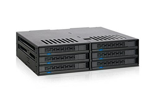"""Icy Dock Rack amovible pour 6x 2,5""""(6,4) SATA/SAS SSD/HDD dans 1x 5,25"""" (13,3cm)–Icy Dock ExpressCage MB326SP-B"""