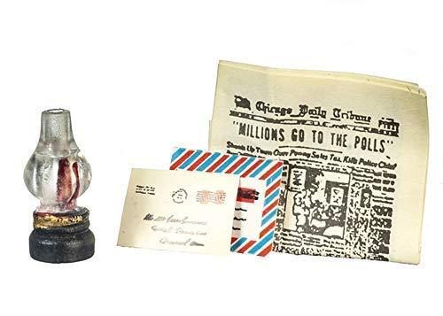 Melody Jane Puppenhaus Zeitung Post & Lampe Miniatur Wohnzimmer Flur Zubehör (Aztec Lampe)