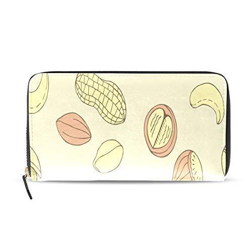 Peanut Little Beans Tägliches Essen Lange Passport Clutch Geldbörsen Reißverschluss Brieftasche Fall Handtasche Geld Organizer Tasche Kreditkarteninhaber Für Dame Frauen Mädchen Männer Reisegeschenk - Pistazien-cashew