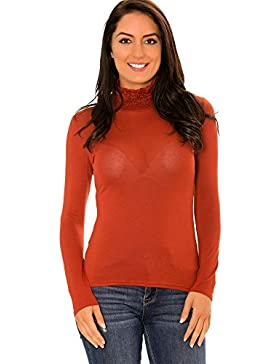 dmarkevous - Camiseta de manga larga - para mujer