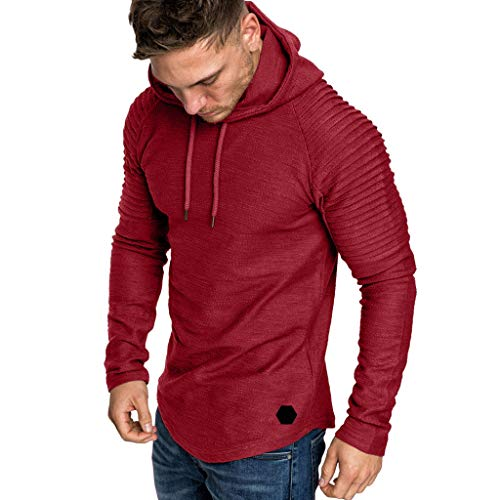 KPILP Men Pleats Slim Fit Raglan Long Sleeve Autumn for sale  Delivered anywhere in Ireland