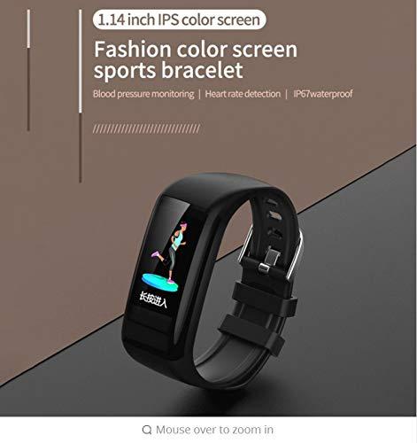 Zlywj Fitness Armband Smart Armband Sport Smart Band Farbdisplay Herzfrequenz Schrittzähler Test Kalorien Wasserdicht Uhren Smart-Armband