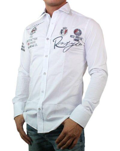 REDBRIDGE by cIPO bAXX & chemise à manches longues pour homme coupe slim Blanc - blanc