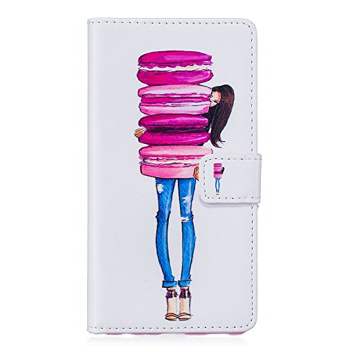 iPhone 6s Hülle Leder, E-Lush Premium PU Leder Tasche für Apple iPhone 6 6S(4,7 zoll) Klapphülle 360 Full Body Protection Flip Case Wallet Cover Weiche Flexible TPU Soft Rückseite Abdeckung Ledertasch Macaron