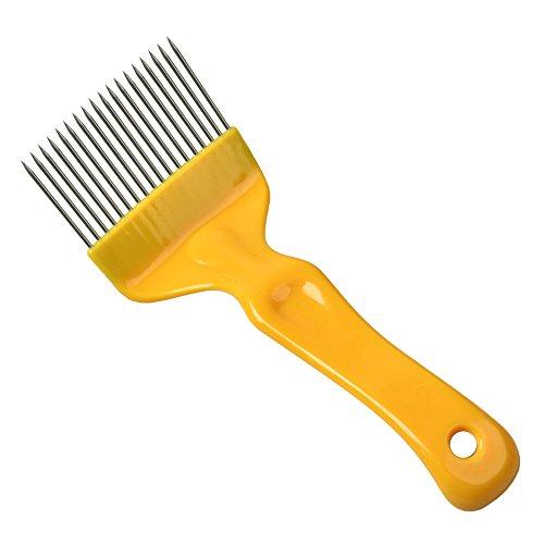 APIFORMES Entdeckelungsgabel - Plastik mit Geraden Nägeln - Gelb | Entdeckelungsmesser | Honigernte...