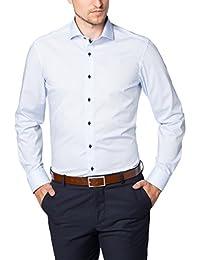 eterna Herren Businesshemd Slim Fit Langarm Uni mit Hai-Kragen