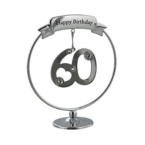 Crystocraft argento placcato compleanno/anniversario mobile gancio ornamento, con cristalli swarovski (60)