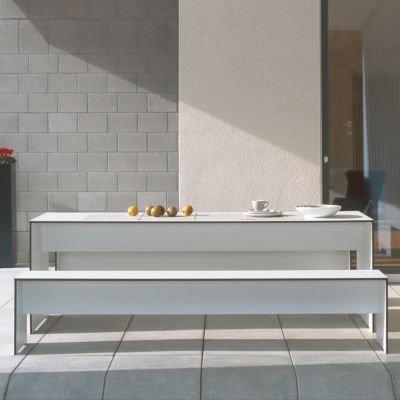Riva Bank 176 cm ohne Lehne – weiß - 3