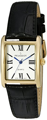 peugeot-womens-gold-tone-classic-leather-strap-watch