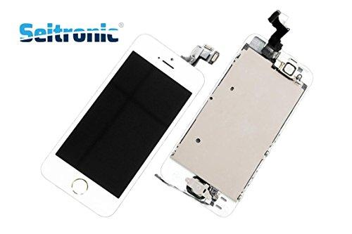 Seitronic Display für iPhone 5S VORMONTIERT KOMPLETT mit RETINA LCD Glas Front WEISS WHITE (5c-screen-ersatz)