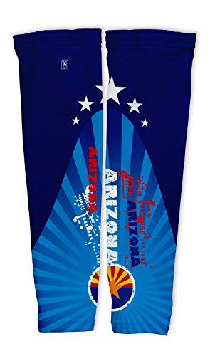Arizona Kompressionsärmel mit UV Schutz – Radsport – Laufen – Golf – Basketball. (Golf Arizona Herren)
