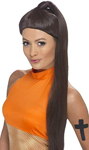 Ladies 1990s Posh Ginger Baby Scary Sporty Spice Girls Wig Fancy Dress Costume Outfit Accessory ()