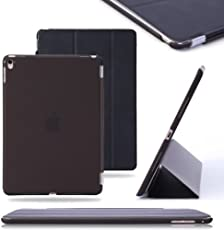 """Gioiabazaar Ipad Air 2 & Ipad Pro 9.7"""" Ultra Slim Smart Case Cover [Synthetic Leather] Trifold Stand with Sleep/Wake Function [Light Weight] for Ipad Air 2 & Ipad Pro 9.7""""(Black)"""