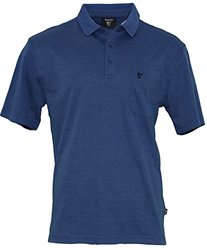 Hajo Herren Poloshirt Easy Care - blau Blau