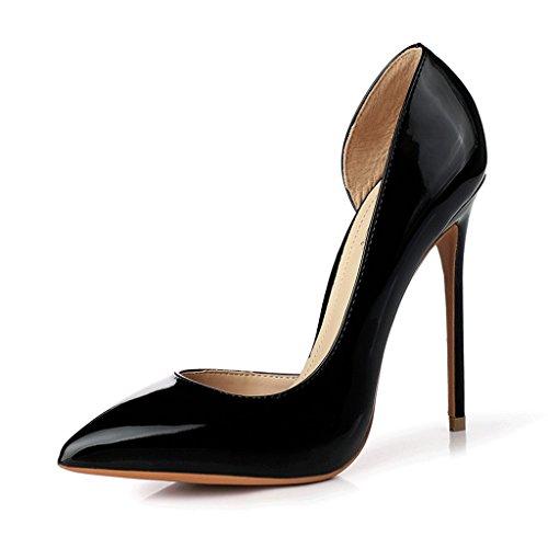 Fine avec 12CM chaussures à talons hauts pointus chaussures féminines