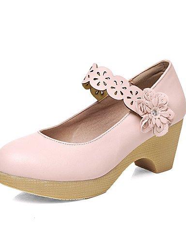WSS 2016 Chaussures Femme-Bureau & Travail / Décontracté-Bleu / Vert / Rose / Beige-Gros Talon-Confort / Bout Arrondi-Talons-Polyuréthane green-us9 / eu40 / uk7 / cn41