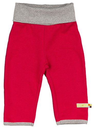loud + proud Unisex Baby Hose Woll-Anteil, Rot (Purple Pu), 80 (Herstellergröße: 74/80)