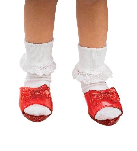 thy tm Rote Kunststoff Schuhe. Kind ein Größenanfall (Kinder Schuhe Dorothy)