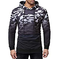 Herren Kapuzenpullover,TWBB Camouflage Hoodie Tasche Pullover Herbst Winter Lange Ärmel Mantel Outwear Sweatjacke Hemd