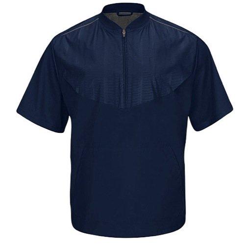 Majestic Herren Cool Boden Training Short Sleeve Jacke, Herren, Navy|White (Mesh Majestic Pullover)