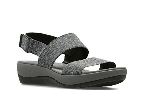 clarks-womens-casual-clarks-arla-jacory-textile-sandals-in-black-white-standard-fit-size-7