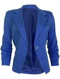 Eleganter Damen Blazer Jäckchen Business Freizeit Party Royal Blau