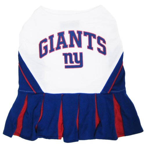 Kostüme Nfl (Mirage Pet Products Hunde-Cheerleader-Kostüm, NFL New York Giants, Größe)