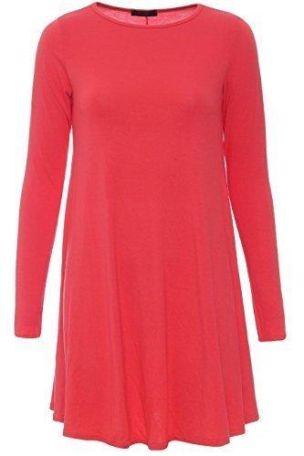 Generic - Robe - Robe de swing - Femme Rouge - Corail