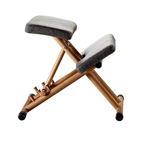 Kniestuhl Kniehocker Sitzhocker Bürohocker höhenverstellbar, bequem gepolstert Verstellbarer Hocker für Zuhause und Büro - Verbessern Sie Ihre Haltung mit einem abgewinkelten Sitz,Gray