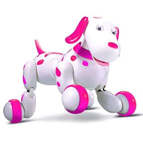 Momola Roboter Hund Smart Hund Elektronische Haustiere, Fernbedienung Hund Spielzeug Interaktive Welpen mit Wiederaufladbaren Modus (Rosa)