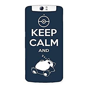 Premium Keep Calm And Sleep Back Case Cover for Oppo N1