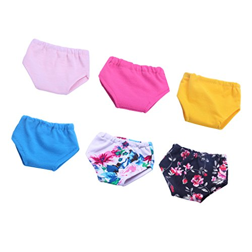 MagiDeal 6 Pieces Colorful Underwears Set for 18inch American Girl Journey Dolls Dress Up Accessories