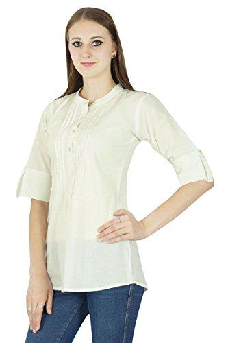 Boho Dress Top Wear Solide Casual Tunique Vêtements Pour Summer De blanc