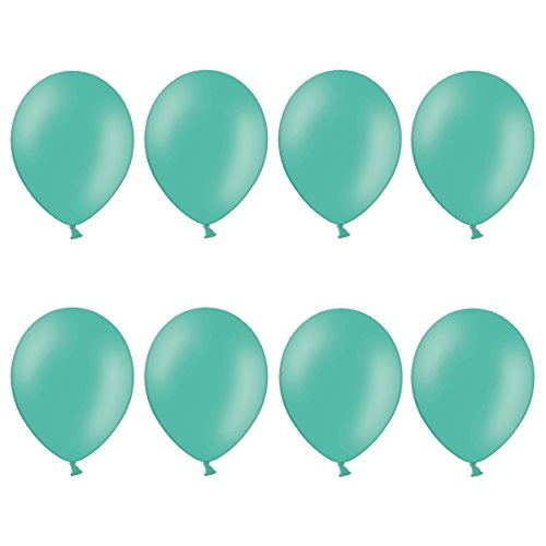 ns in vielen Farben | Hochzeit, Party, Kindergeburtstag | Premium Ballons (Pastell Aqua-Grün) (Farben Luftballons)