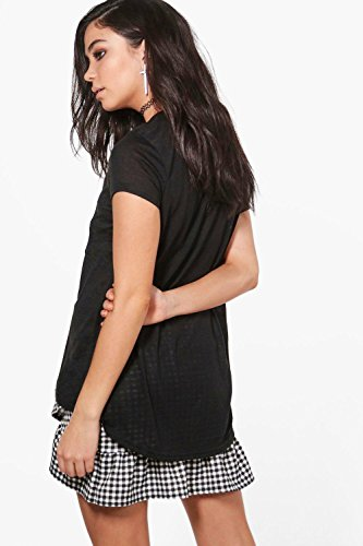 Noir Femmes Grace T-shirt À Sequins Kiss & Tell Noir