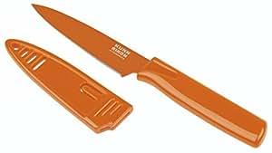 """Kuhn Rikon """"Colori 1"""" Paring Knife, Stainless Steel, Orange"""