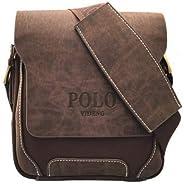 Handbag Side for Men by videng Polo, Brown FG7
