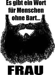 Mister Merchandise Cooles Fun T-Shirt Ein Wort für Menschen ohne Bart - Frau Hellblau