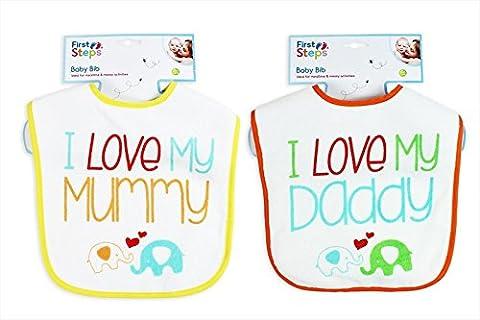 12bavoirs bébé deux modèles assortis