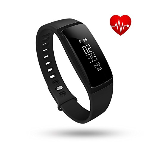 Fitness Tracker, Tonbux Upgraded Heart Rate Monitor Smart Watch Wristband, Blood Press Monitor, OLED Pedometer Bluetooth 4.0 for Outdoor Running Walking For iOS Android Smart Phone
