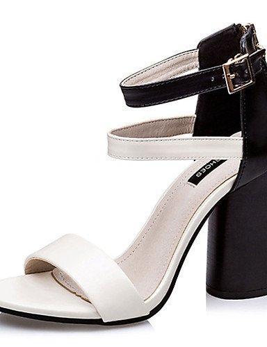 WSS 2016 Chaussures Femme-Décontracté-Blanc / Argent / Or / Bordeaux-Gros Talon-Talons-Talons-Polyuréthane burgundy-us6 / eu36 / uk4 / cn36