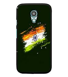PrintDhaba Indian Flag D-4697 Back Case Cover for MOTOROLA MOTO G2 (Multi-Coloured)
