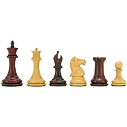 The Regency Chess Company Sovereign Serie Rojo Sándalo y boj Piezas de ajedrez 7.6cm