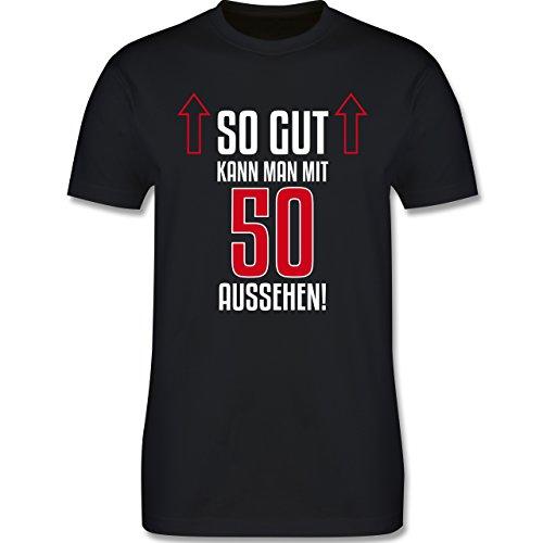 Geburtstag - So gut kann man mit 50 aussehen - Herren Premium T-Shirt Schwarz