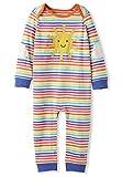 kIDio Organic Cotton Baby Romper Girl Boy - Sunshine Applique Rainbow Stripes (0-2 Years)