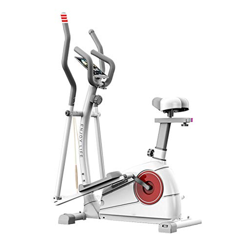 Yunyisujiao Elliptische Maschine Fitness Heimtrainer kommerziellen Indoor Fitnessgeräte stumm Schritt Gewicht Maschine Space Walker (Color : White, Size : 50 * 99 * 150CM(20 * 39 * 59IN))