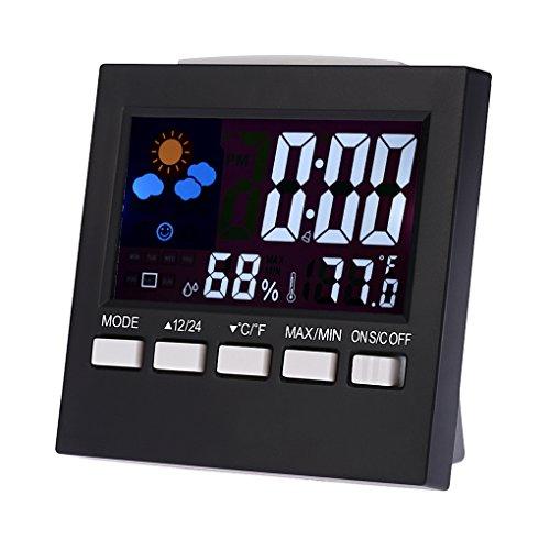 Multifuncional Digital Colorido LCD Termómetro Higrómetro