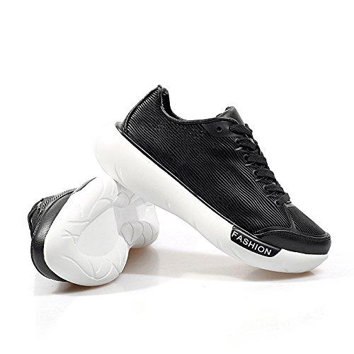 Weißen Schuhe flache Spitze Schuhe atmungsaktive Schuhe dicke Kruste Freizeitschuhe wilde Studenten Black