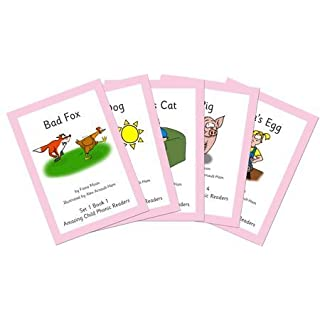 Pack of 5 Phonics Readers Set 1 _ Simple Phonics Books to allow a child to gain confidence at their own pace