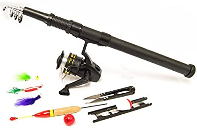 Michigan 2 Person Carp/Course Fishing Starter Set with Rod/Reel/Tackle from Michigan